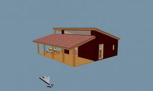 Büntemeyer - Errichtung eines Grillhauses - Ansicht in 3D